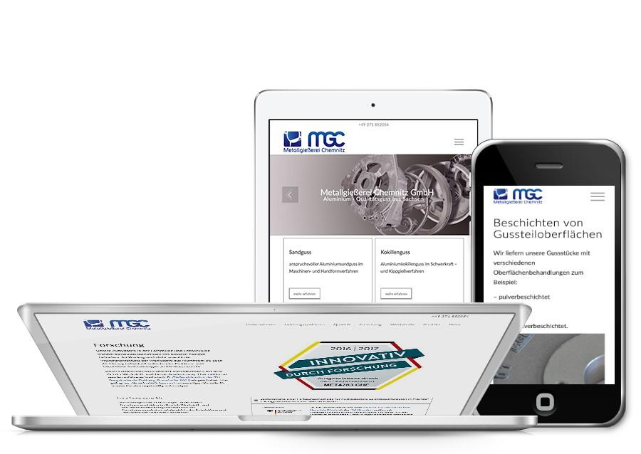 Homepage von Metallgießerei Chemnitz neu gestaltet und SEO optimiert