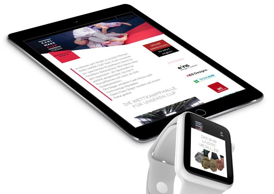 EB Designs Referenz, Responsive Blog Website