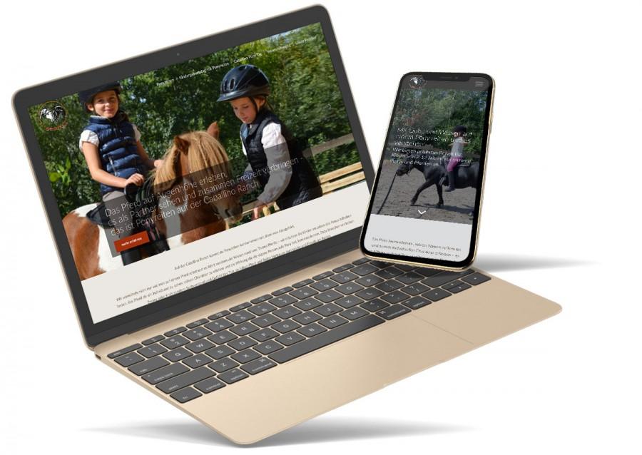 Neu gestaltete Webseite Caballino Ranch von Webdesign Agentur Chemnitz